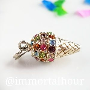 Rainbow Icecream Cone Charm